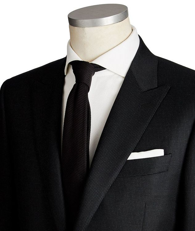 Contemporary Fit Dotted Wool Suit picture 2