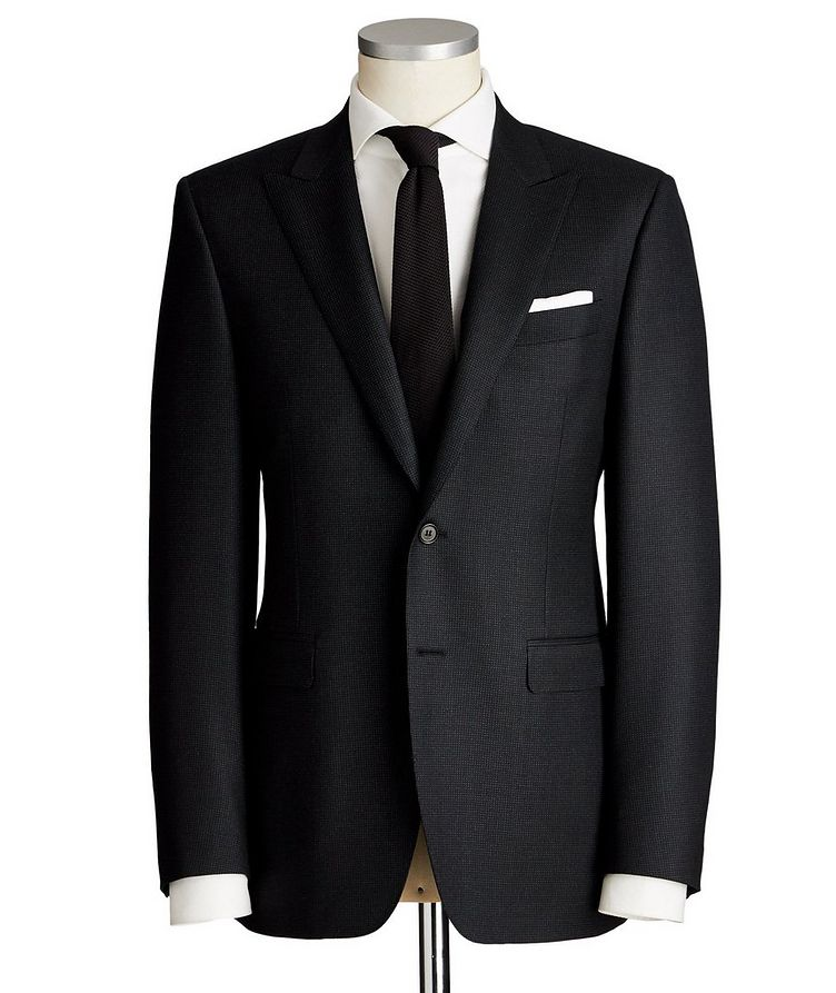 Contemporary Fit Dotted Wool Suit image 0