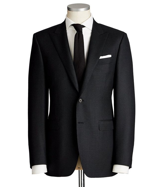 Contemporary Fit Dotted Wool Suit picture 1