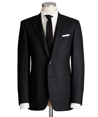 Canali Contemporary Fit Dotted Wool Suit