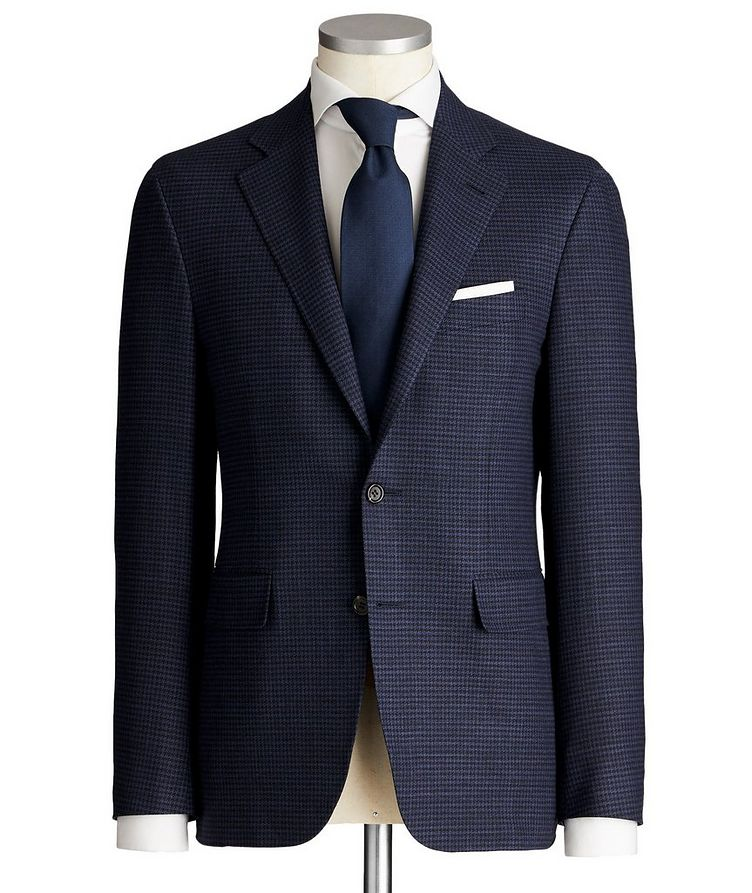 Impeccabile Kei Houndstooth Wool Suit image 0