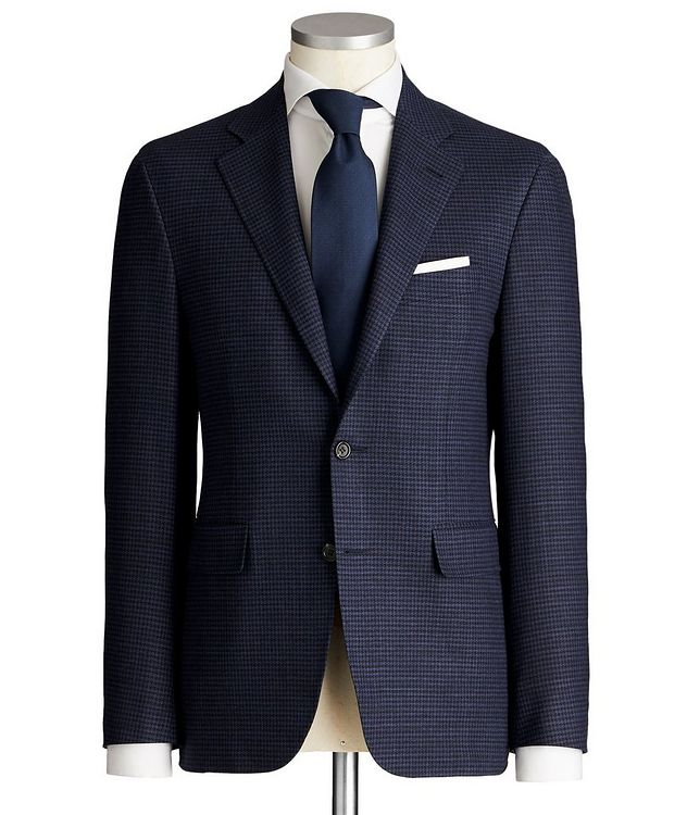 Impeccabile Kei Houndstooth Wool Suit picture 1
