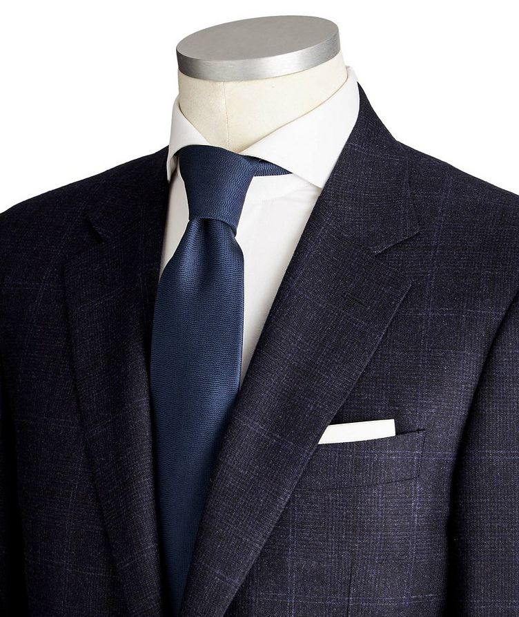 Exclusive Contemporary Fit Checked Wool-Cashmere Suit image 1