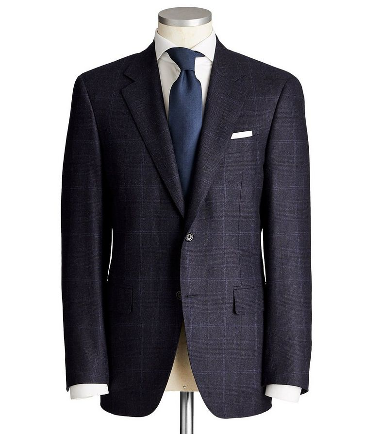 Exclusive Contemporary Fit Checked Wool-Cashmere Suit image 0