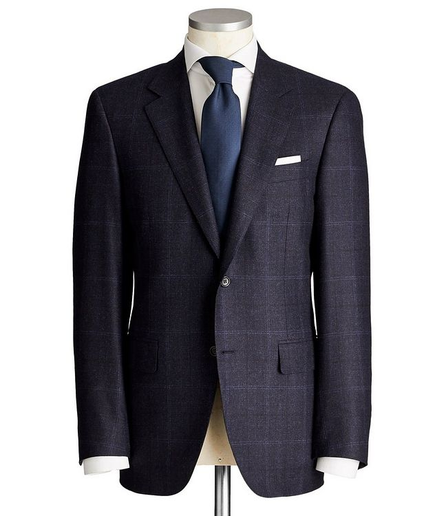 Exclusive Contemporary Fit Checked Wool-Cashmere Suit picture 1