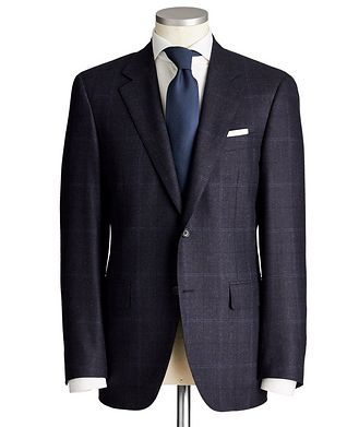 Canali Exclusive Contemporary Fit Checked Wool-Cashmere Suit