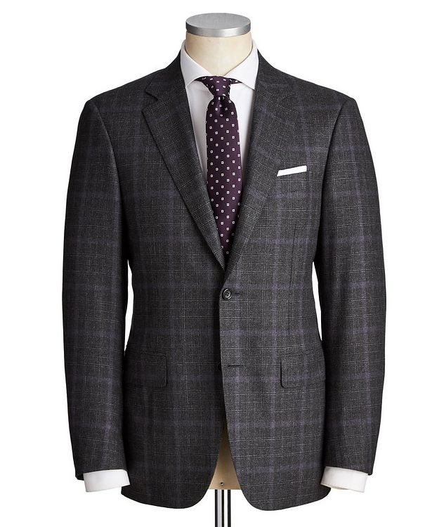 Contemporary Fit Checked Wool Suit picture 1