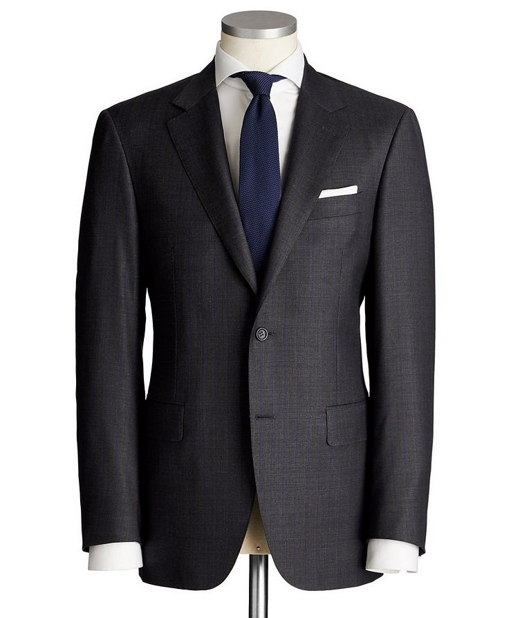 Exclusive Contemporary Fit Striped Wool Suit image 0