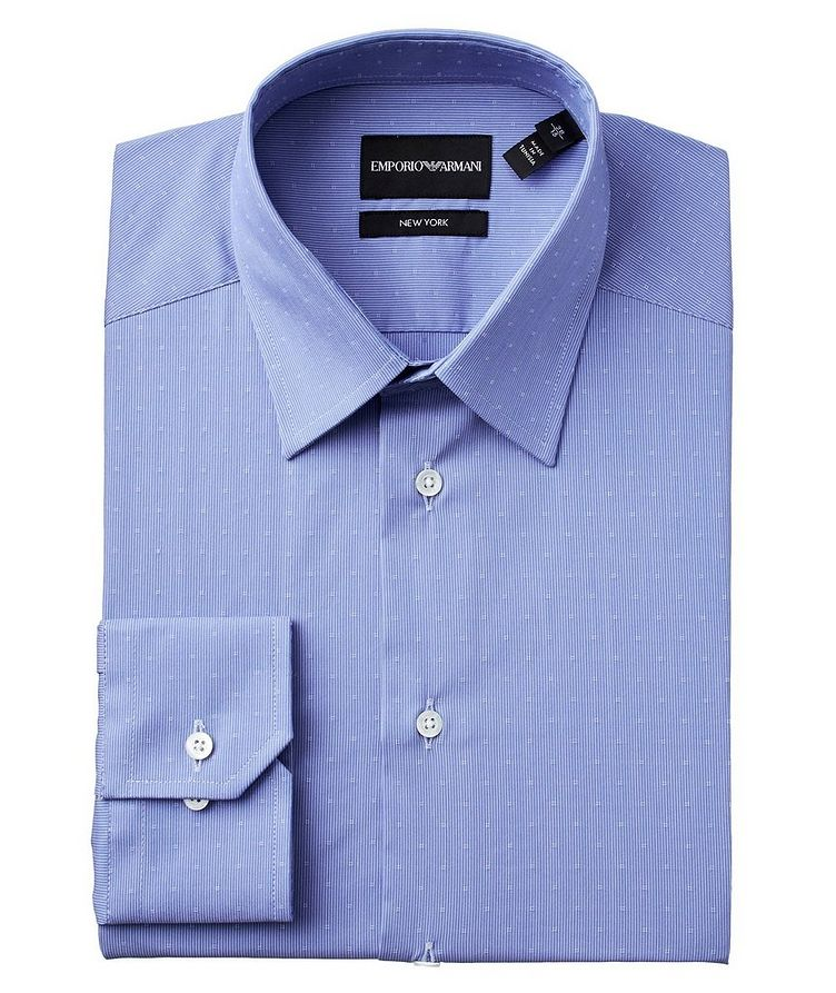 Slim Fit Printed Stretch-Cotton Dress Shirt image 0