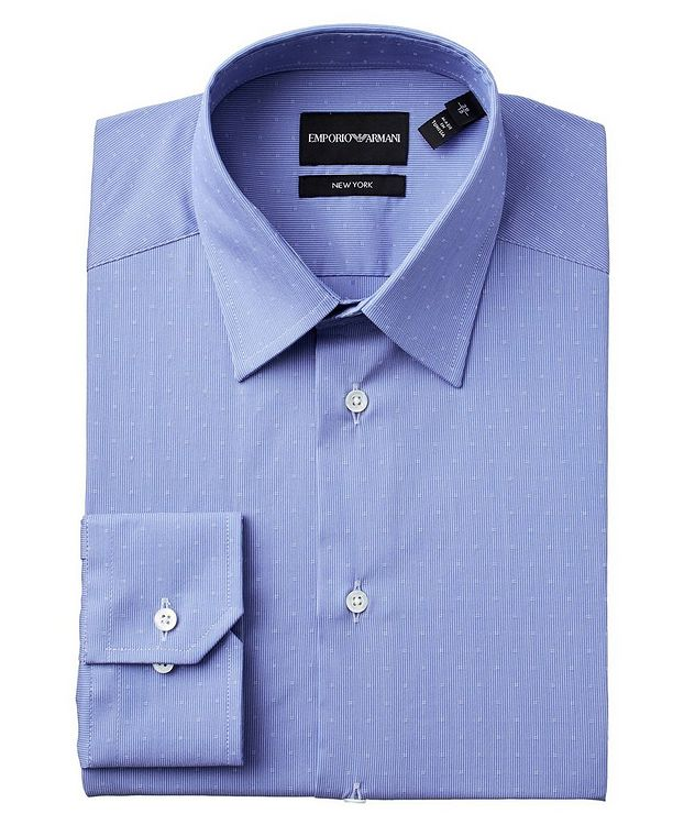Slim Fit Printed Stretch-Cotton Dress Shirt picture 1