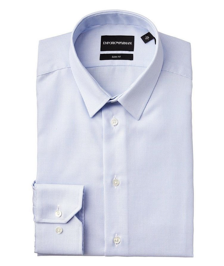 Slim Fit No Iron Stretch-Cotton Dress Shirt image 0
