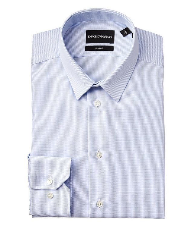 Slim Fit No Iron Stretch-Cotton Dress Shirt picture 1