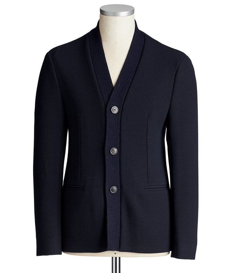 Stretch-Blend Cardigan Sports Jacket image 0