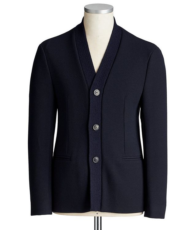 Stretch-Blend Cardigan Sports Jacket picture 1
