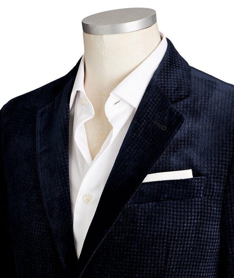 G-Line Textured Velvet Sports Jacket image 1