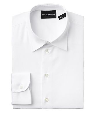 Emporio Armani Contemporary Fit Stretch-Cotton Dress Shirt