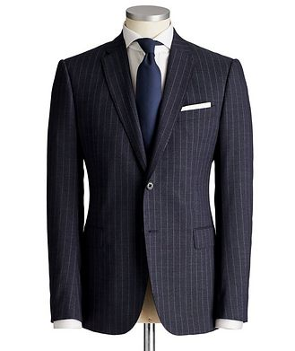 Emporio Armani M-Line Pinstriped Virgin Wool Suit