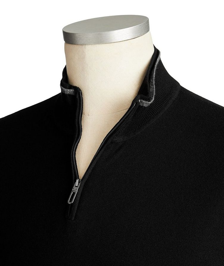 Half-Zip Knit Jersey Sweater image 1