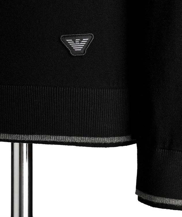 Half-Zip Knit Jersey Sweater picture 3