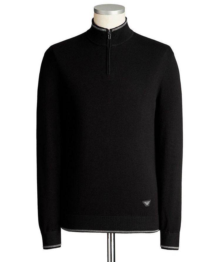 Half-Zip Knit Jersey Sweater image 0