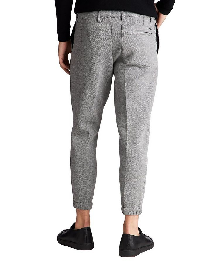 Micro-Checked Pleated Joggers image 1
