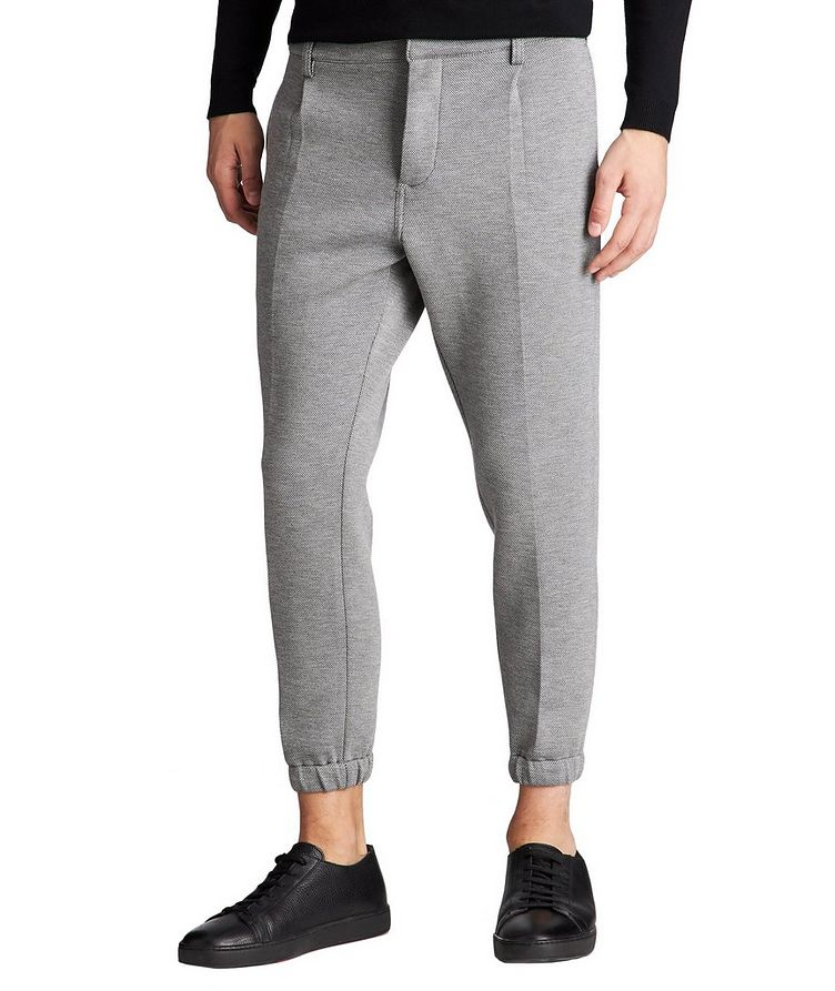 Micro-Checked Pleated Joggers image 0