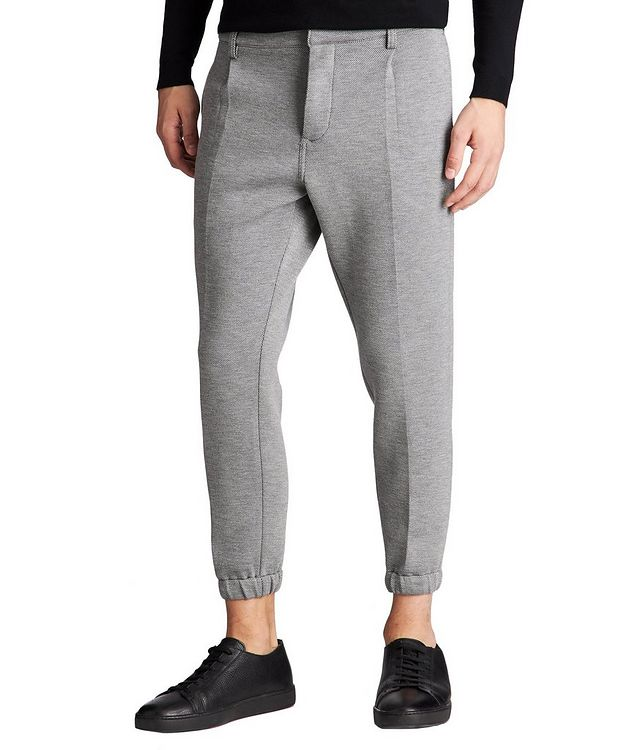 Micro-Checked Pleated Joggers picture 1