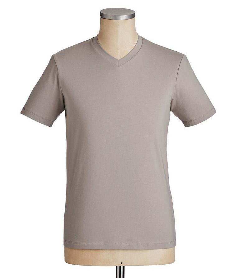 Travel Essentials Packable Stretch-Blend V-Neck T-Shirt image 0