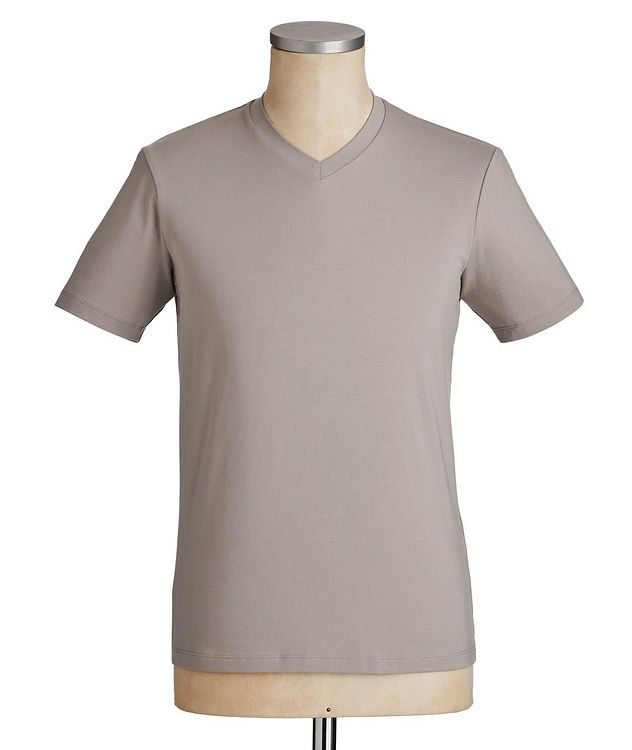 Travel Essentials Packable Stretch-Blend V-Neck T-Shirt picture 1