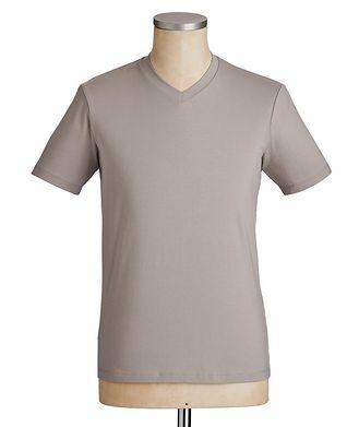 Emporio Armani Travel Essentials Packable Stretch-Blend V-Neck T-Shirt