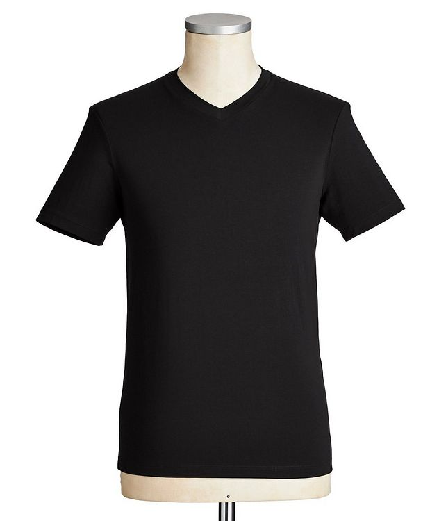 Travel Essentials Packable Stretch-Blend V-Neck T-Shirt picture 1