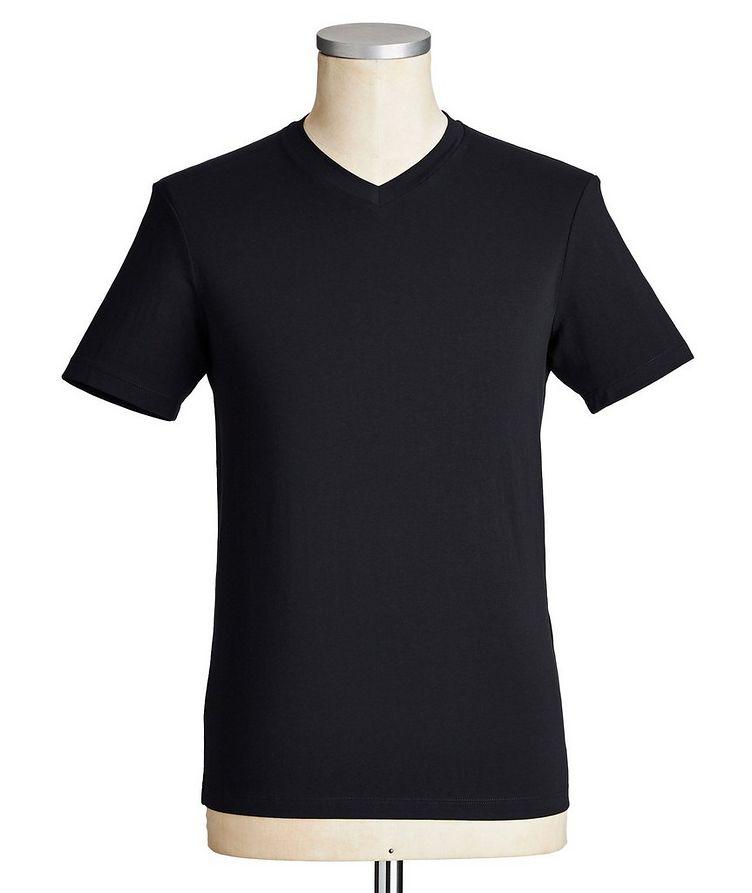 Travel Essentials Packable Stretch-Blend V-Neck T-Shirt image 0