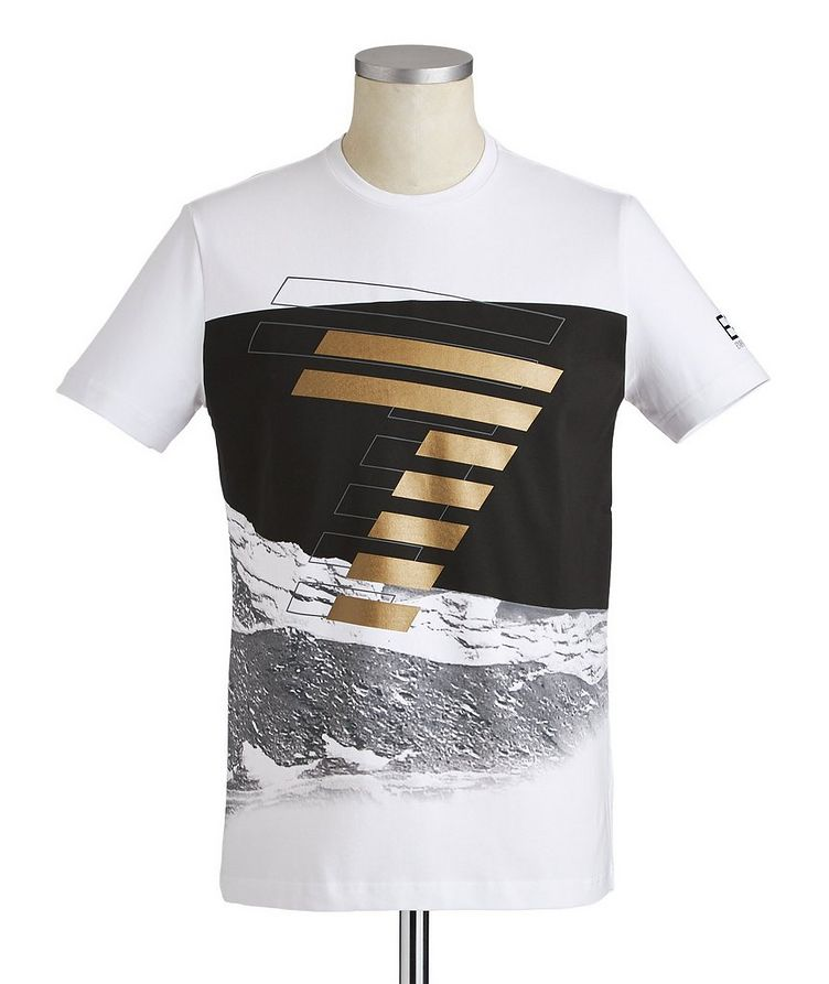 Printed Stretch-Cotton T-Shirt image 0