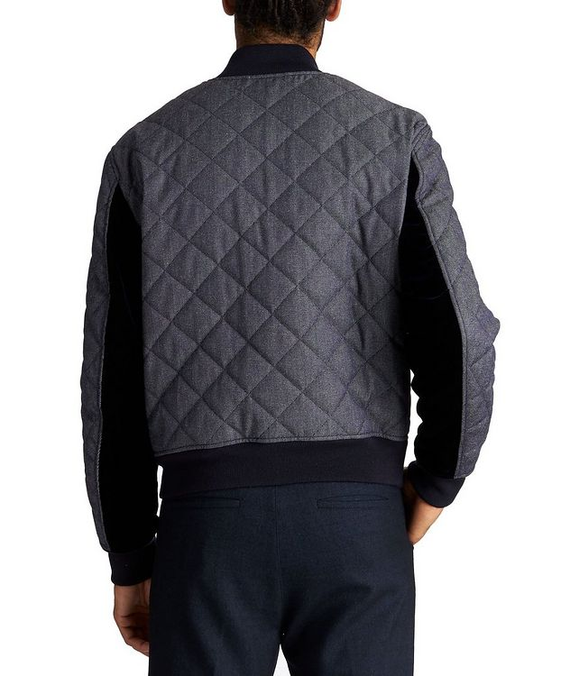 Quilted Wool-Cotton Bomber Jacket picture 2