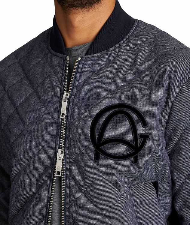 Quilted Wool-Cotton Bomber Jacket picture 3