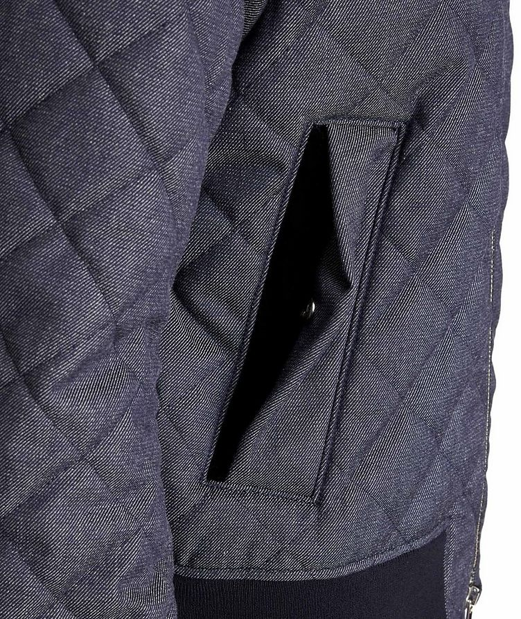 Quilted Wool-Cotton Bomber Jacket image 3
