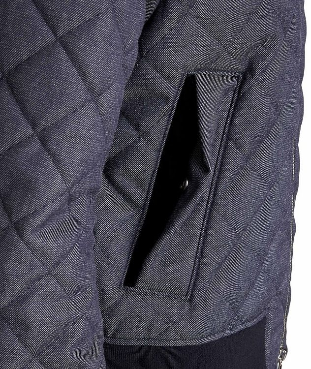 Quilted Wool-Cotton Bomber Jacket picture 4