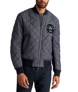 Giorgio Armani Quilted Wool-Cotton Bomber Jacket
