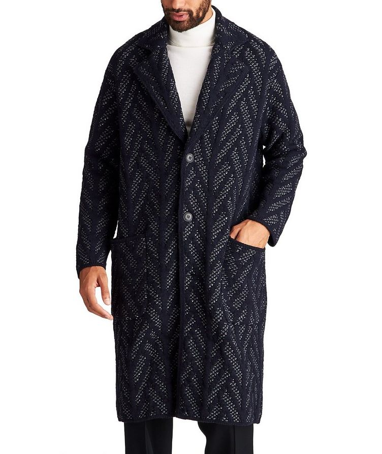 Knit Wool-Cashmere Coat image 0