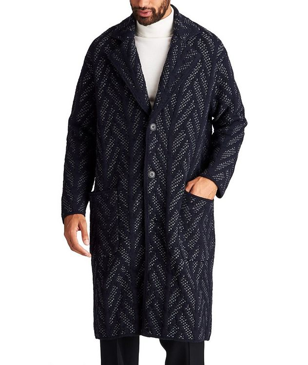 Knit Wool-Cashmere Coat picture 1