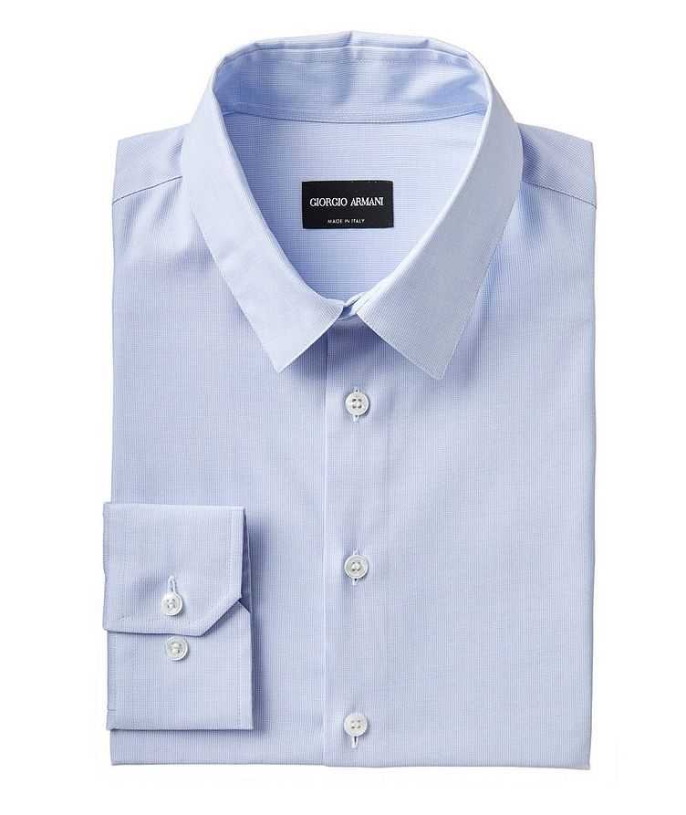 Contemporary Fit Cotton-Blend Dress Shirt image 0