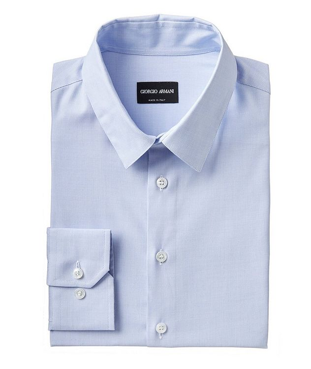 Contemporary Fit Cotton-Blend Dress Shirt picture 1