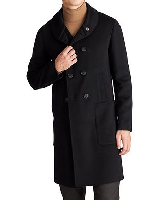 Giorgio Armani Icon Double-Breasted Cashmere-Blend Coat