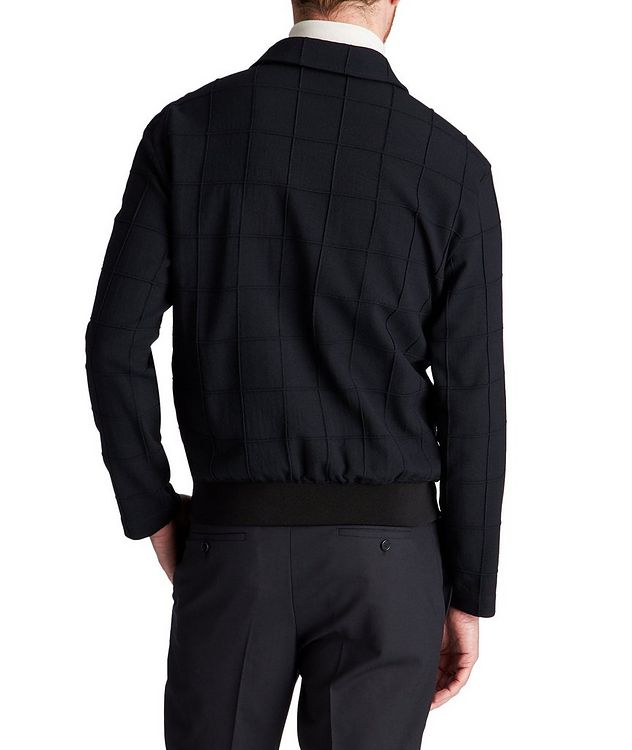 Stretch-Virgin Wool Bomber Jacket picture 2