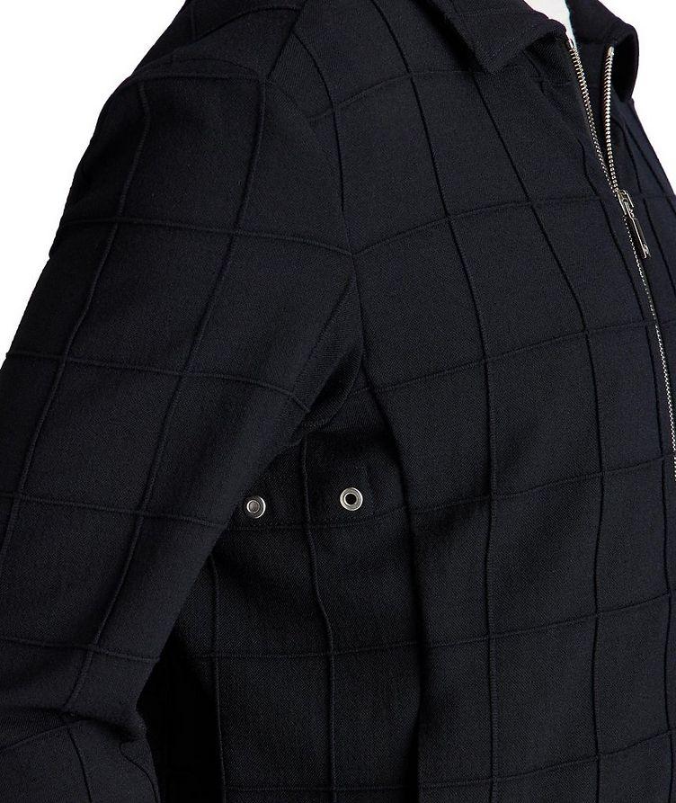 Stretch-Virgin Wool Bomber Jacket image 2