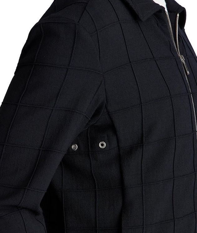 Stretch-Virgin Wool Bomber Jacket picture 3