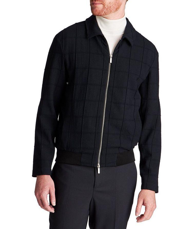Stretch-Virgin Wool Bomber Jacket image 0