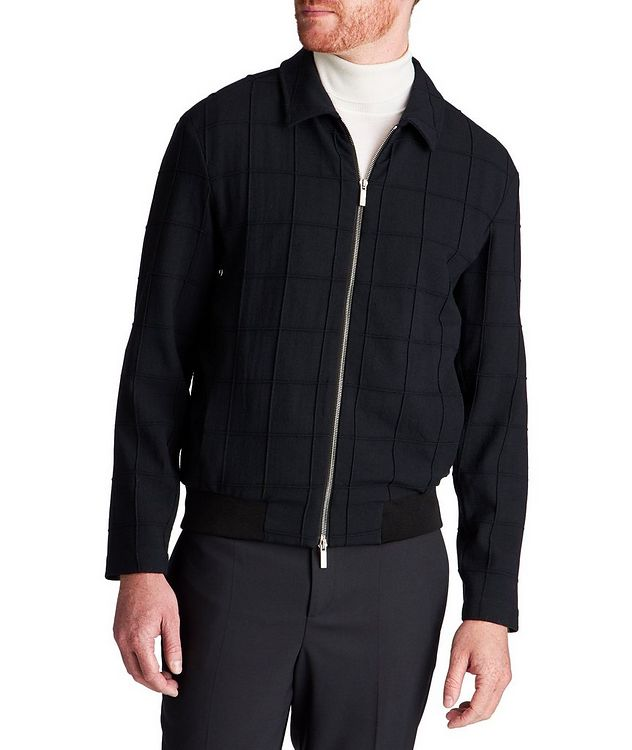 Stretch-Virgin Wool Bomber Jacket picture 1