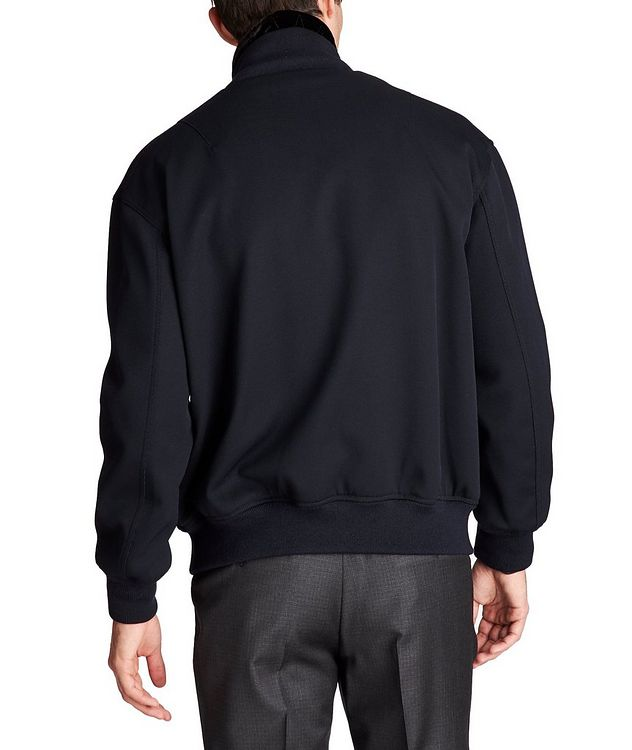 Stretch-Wool Bomber Jacket picture 2