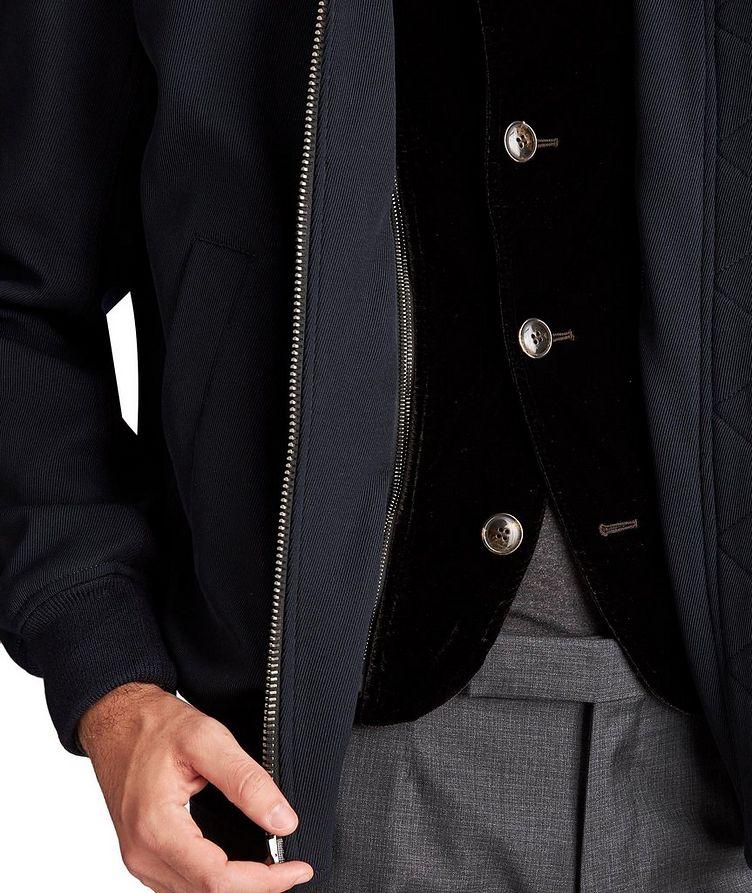 Stretch-Wool Bomber Jacket image 2